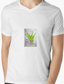 Birthday Tulips Mens V-Neck T-Shirt