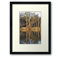 Afternoon on The Murray Framed Print