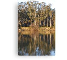 Afternoon on The Murray Canvas Print