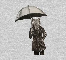 Wolf with Umbrella Unisex T-Shirt