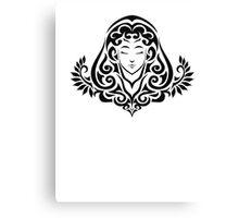 Zodiac Sign Virgo Black Canvas Print