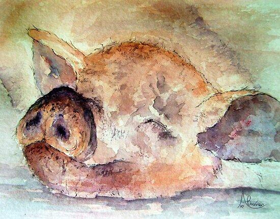 Pigging Tired by Angela  Burman