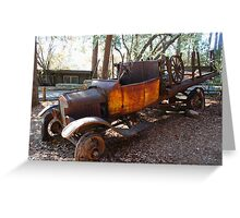abandon old truck Greeting Card