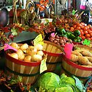 """Fall Vegetable Market"" by franticflagwave"