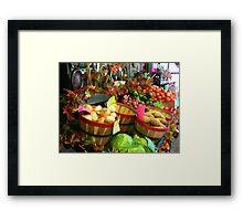 """""""Fall Vegetable Market"""" Framed Print"""