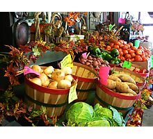 """Fall Vegetable Market"" Photographic Print"