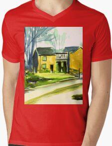 Cockpit Cottages, Derbyshire Mens V-Neck T-Shirt