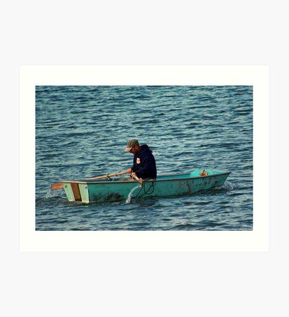 Rowing to Work Art Print