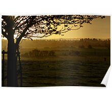 Buckinghamshire sunset Poster