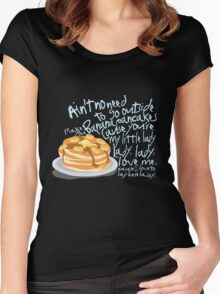 Banana Pancakes Women's Fitted Scoop T-Shirt