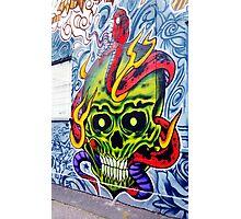 Skull Graffiti, Fitzroy Photographic Print