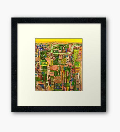 Riverside jewel Framed Print