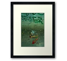 jester and the red shoes Framed Print