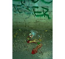 jester and the red shoes Photographic Print