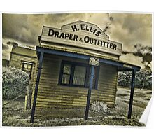 Back to Steiglitz - H.ELLIS Draper and Outfittes Poster