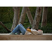 Contemplating at the Getty Museum LA California Photographic Print