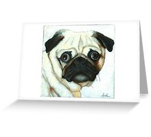 Love at First Sight - Pug painting Greeting Card