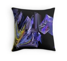 Complementary Chaos Throw Pillow