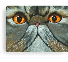 The Predictably Purr-sistant Persian - cat portrait oil painting Canvas Print