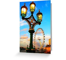London Eye and a Street Light Greeting Card