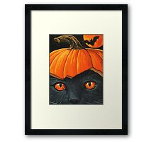 Bats in the Belfry? - halloween painting Framed Print