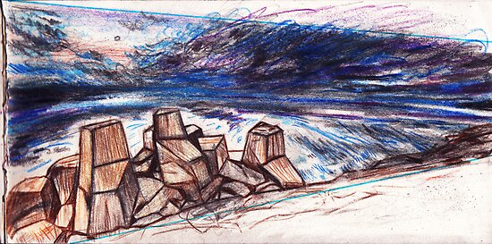 Composition Sketch for Drift #1 (VIEW LARGER) by ellejayerose