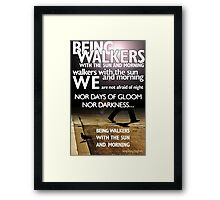 Walkers with the Dawn, by Langston Hughes Framed Print