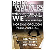 Walkers with the Dawn, by Langston Hughes Poster