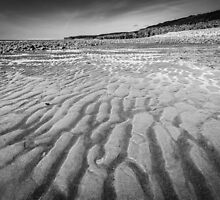 Sand Patterns at Colhugh Beach, Llantwit Major, south Wales, UK by Heidi Stewart