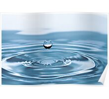 Water Drop with Ripples Poster
