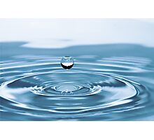Water Drop with Ripples Photographic Print