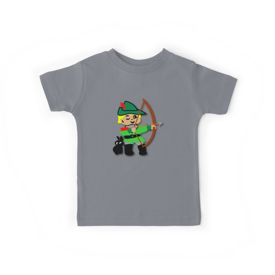 Kid Billy retro featuring Robin Hood Tee by patjila