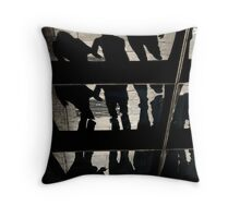 Reflection of people walking, Melbourne Central Business District Throw Pillow