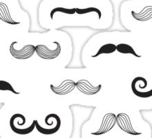 Seamless pattern with retro mustache Sticker