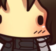Blushy Bucky Sticker