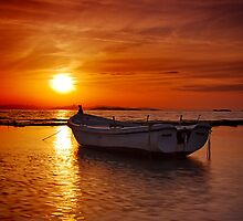 Floating sunset by Kounelli