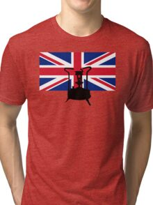 Union Jack and Paraffin pressure stove Tri-blend T-Shirt