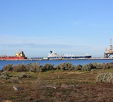 Ships and Oil Rig , Corio Bay, Geelong by Emma Delladio