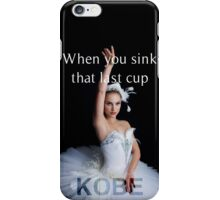 Kobe. iPhone Case/Skin