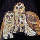 Three Owls - Art Nouveau Inspired by Klimt by taiche
