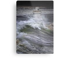 Brute Force, Wick Lighthouse, Caithness, Scotland Metal Print