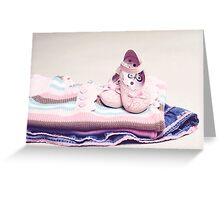 what a baby girl needs Greeting Card
