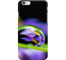 Water Droplets on a Blade of Grass iPhone Case/Skin