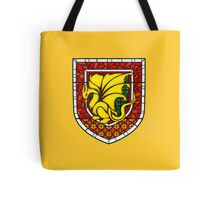 Stained Glass Pendragon Crest Tote Bag