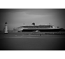 Queen Mary 2 @ Perch Rock Lighthouse Photographic Print