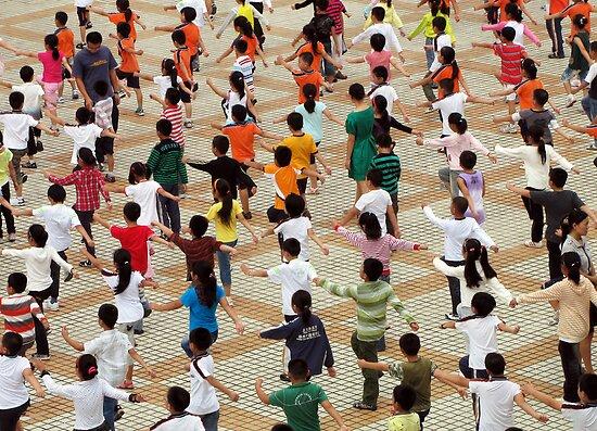 PE for the masses, Yangzhou, China by DaveLambert