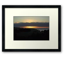 Sun sets at Snelling Beach Framed Print