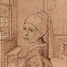 The Girl with Pearl earring of Vermeer, in the master&#x27;s room. by Norbert Kiss