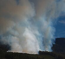 Mt. Rowland, Forestry Fire Tasmania 2008 by cradlemountain