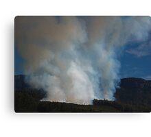 Mt. Rowland, Forestry Fire Tasmania 2008 Canvas Print